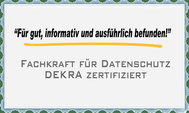 Empfehlung des Datenschutzbeauftragten